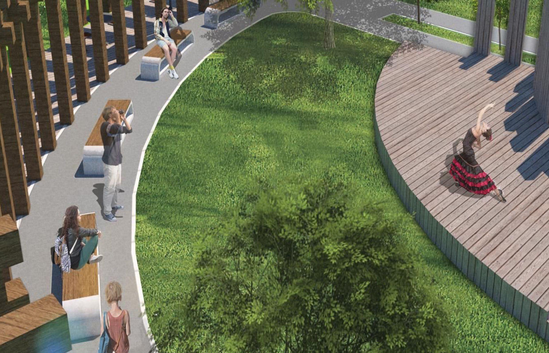 Уютный двор для концертов и прогулок