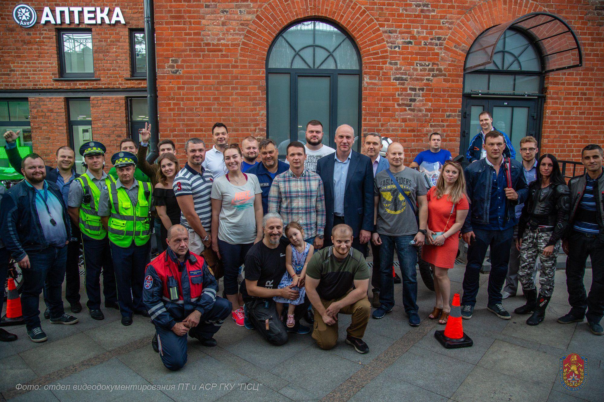 Московские спасатели провели мастер-класс по оказанию первой помощи пострадавшим в мотоДТП