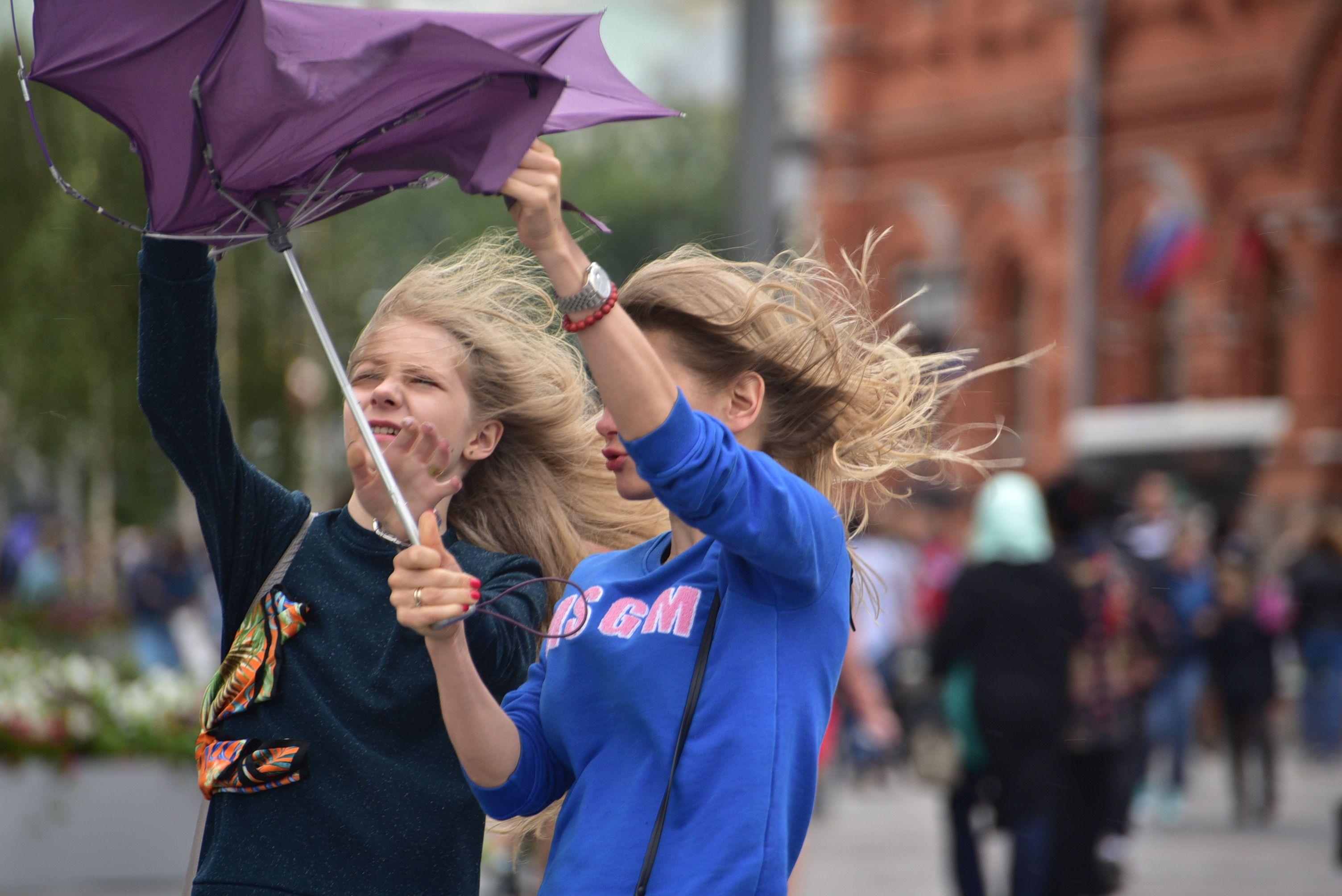 Москву накроют дожди и порывистый ветер