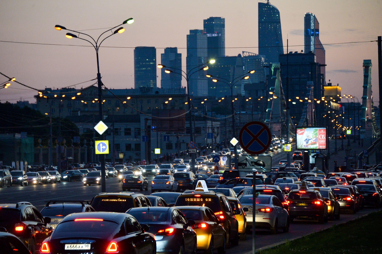Москвичам показали десятку самых загруженных магистралей