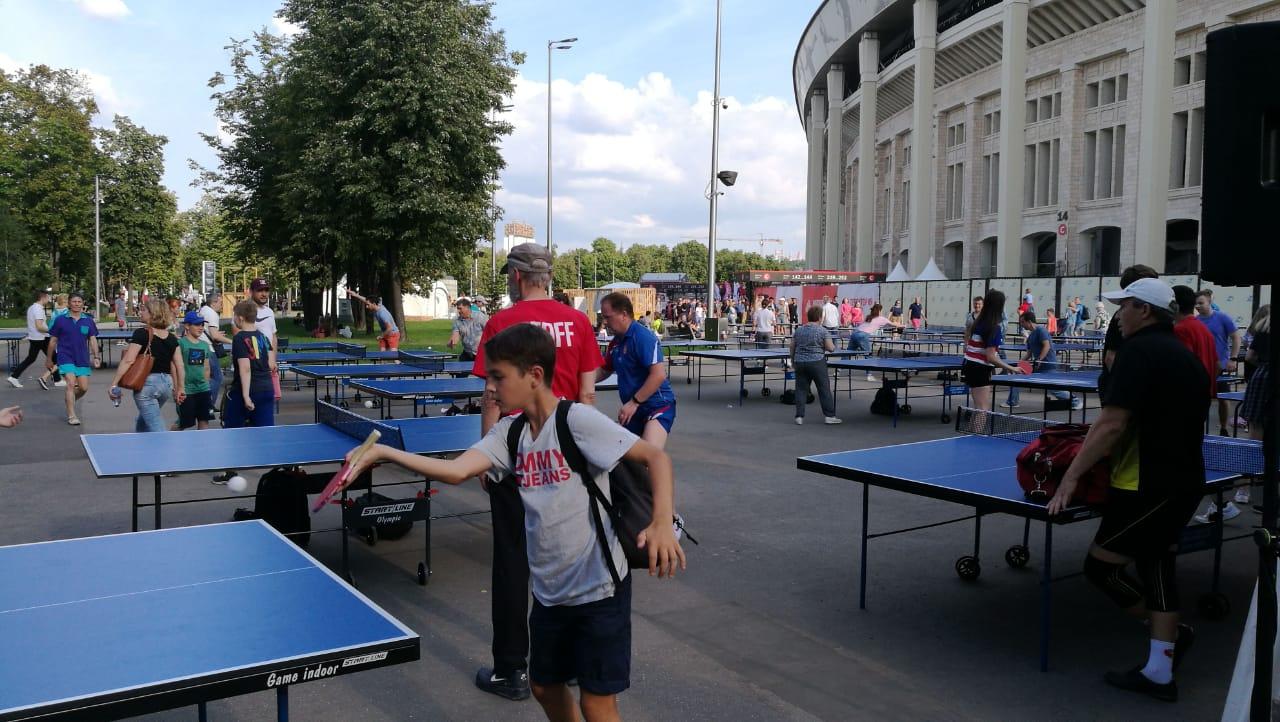 Турнир по настольному теннису прошел в «Лужниках»