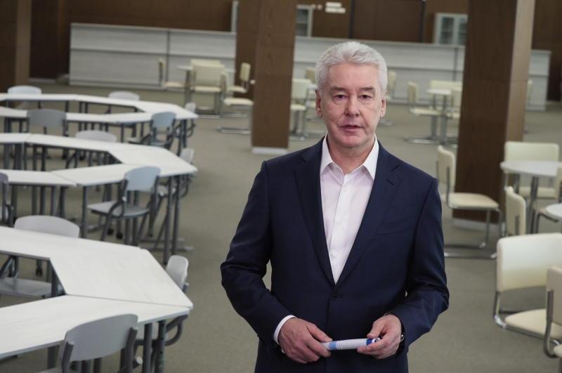Собянин открыл новую школу в Строгине