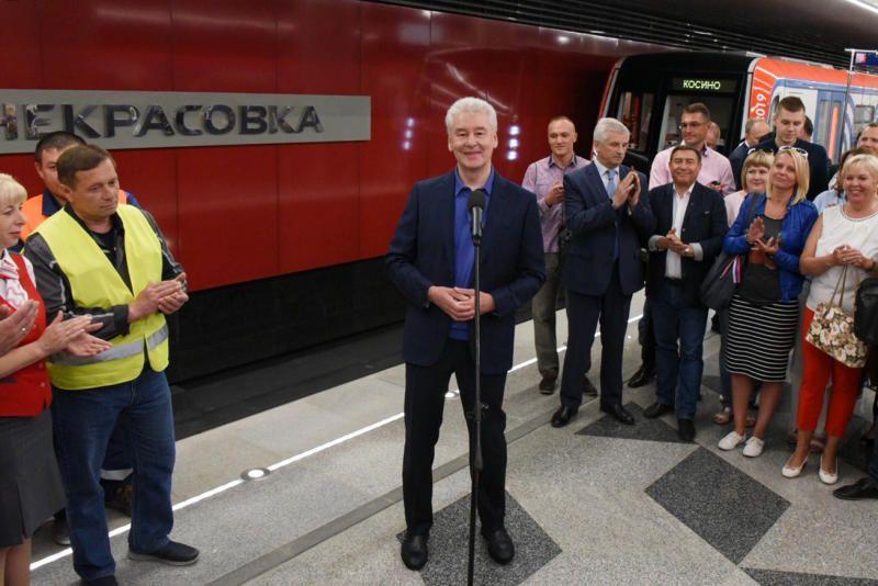 Собянин: проходка тоннелей Некрасовской линии метро завершена. Фото: мэр Москвы Сергей Собянин