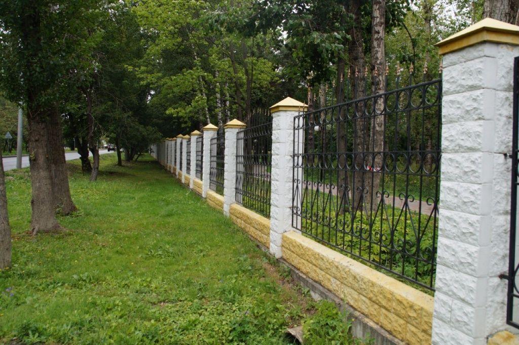 Ограждения парковой зоны покрасят в Мосрентгене