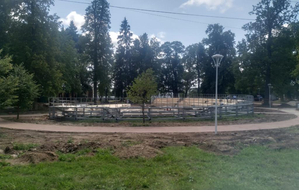 Новый этап благоустройства начали в парке «Кленово»