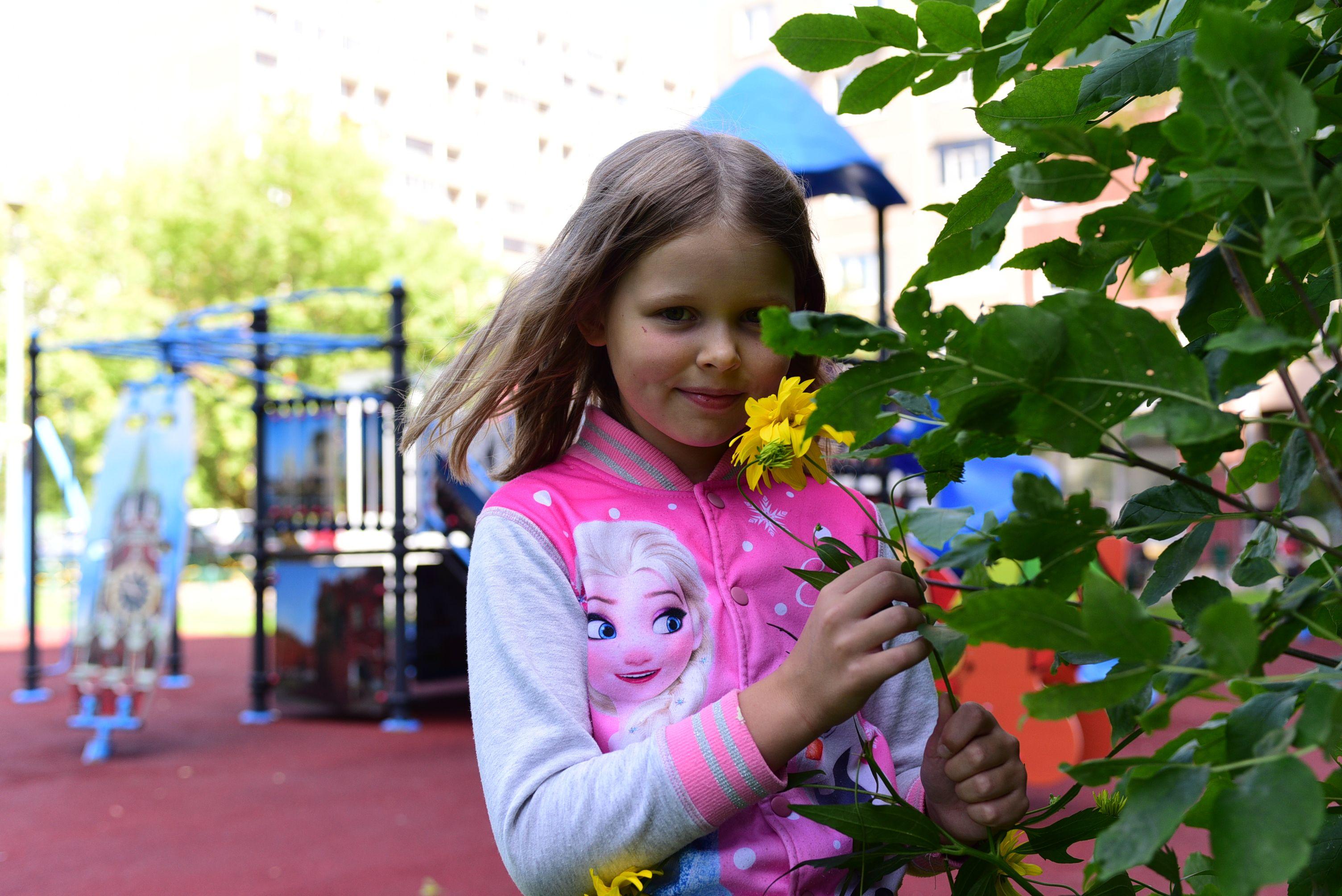 Обустройство детских игровых зон проведут в Кленовском. Фото: Пелагия Замятина, «Вечерняя Москва»