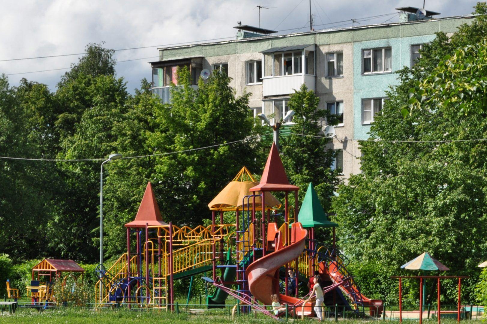 Детскую площадку обновят в деревне Лужки. Фото: Никита Нестеров