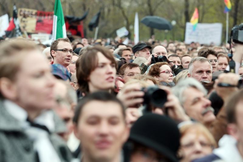 ГУВД: В незаконной акции в центре столицы участвует около 350 человек