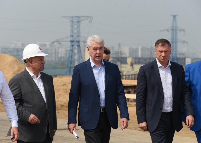 Собянин отметил темпы строительства Южного дублера Кутузовского проспекта