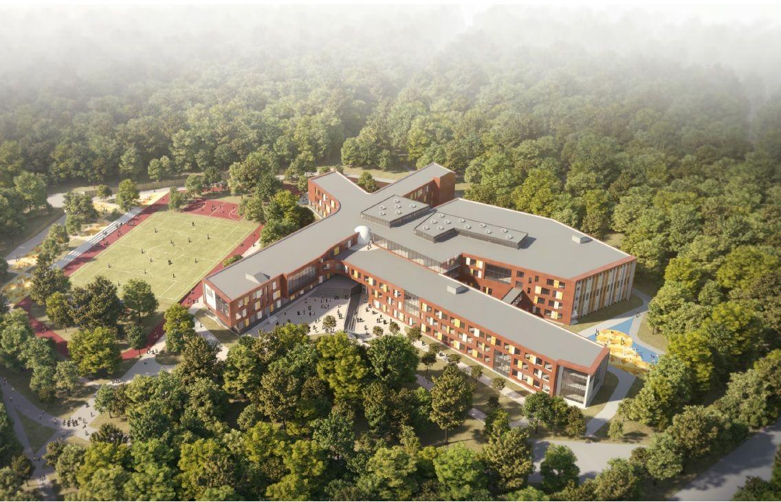 Школа гигант как маленький город
