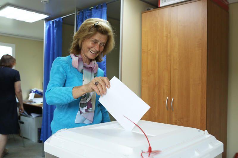 В Москве все избирательные участки для голосования приступили к работе. Фото: Алексей Орлов, «Вечерняя Москва»