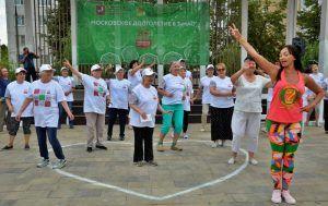 Участницы фестиваля «Дары осени» на зажигательном занятии по Зумбе «Голд». Фото: Анна Быкова