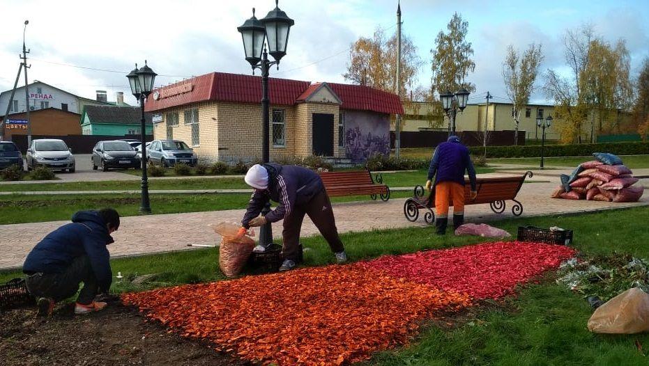 Работы по цветочному оформлению стартовали в Краснопахорском
