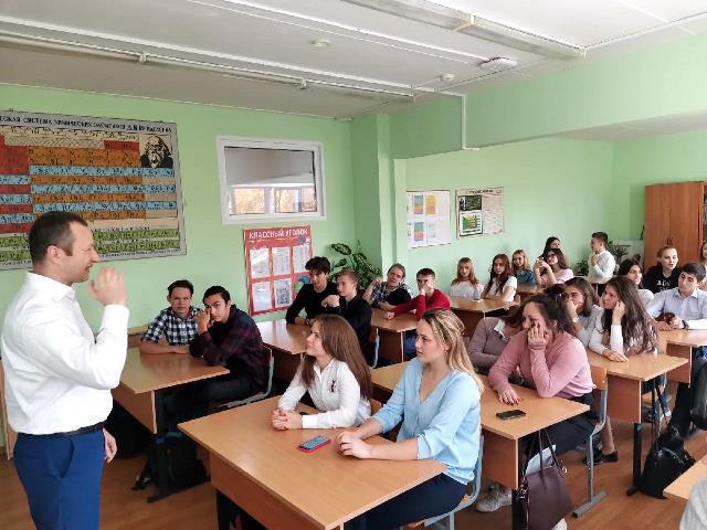 Вместе с полицейскими Новой Москвы старшеклассники провели День здоровья и профилактики