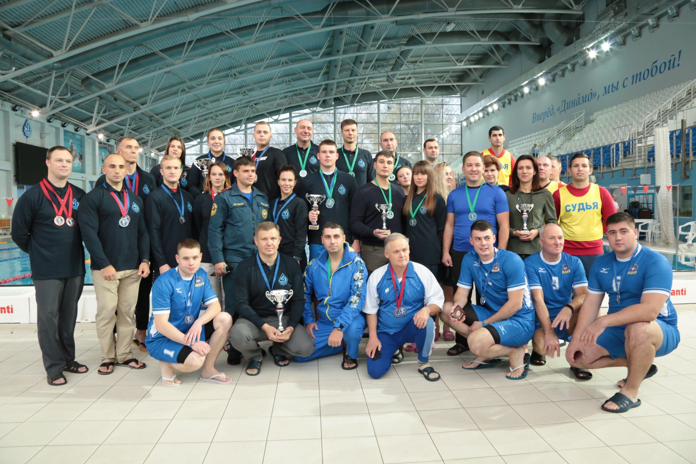 Команда Департамента ГОЧСиПБ заняла первое место в соревнованиях по плаванию в общекомандном зачете