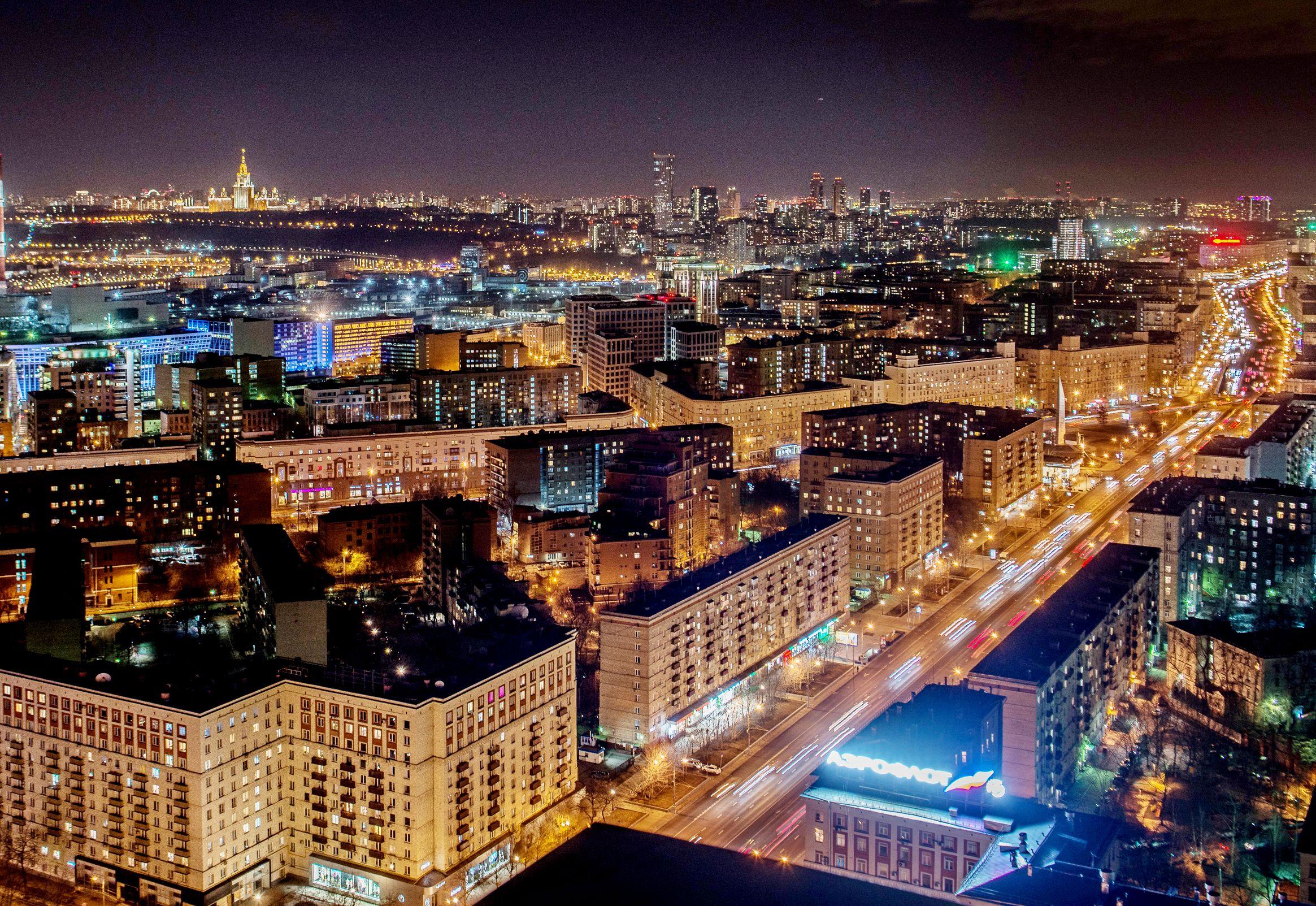 Москва вошла в ТОП-5 самых освещенных городов мира