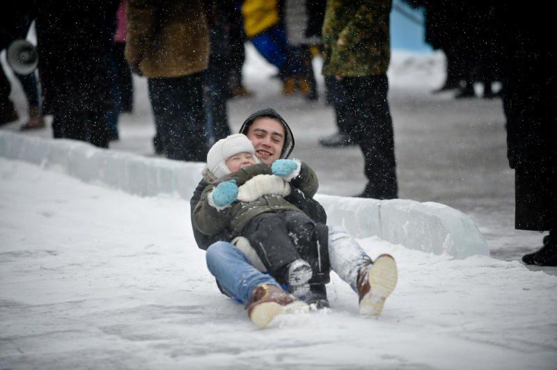 Ледяные горки установят в Коммунарке
