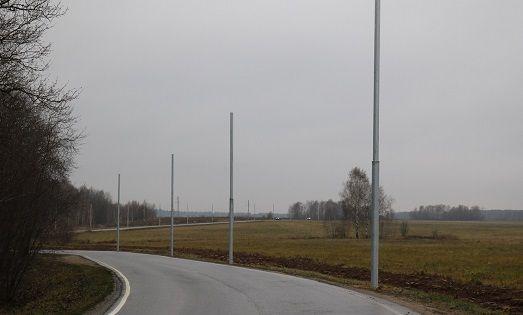 Столбы для уличного освещения поставили в Рязановском