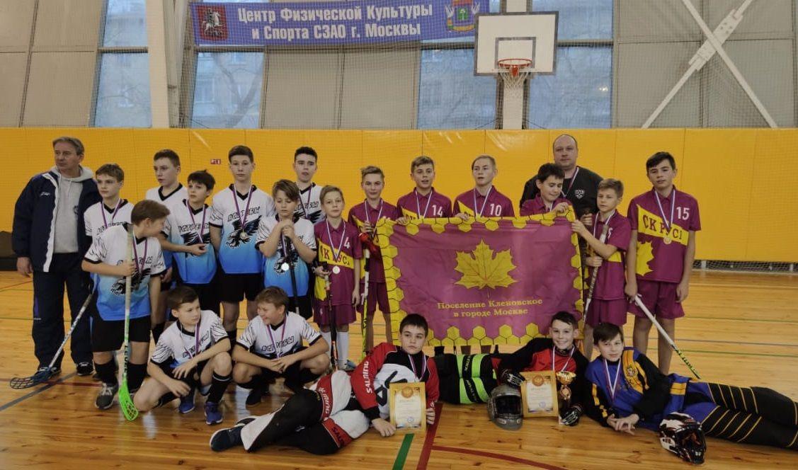 Юноши из Кленовского одержали победу в турнире по флорболу