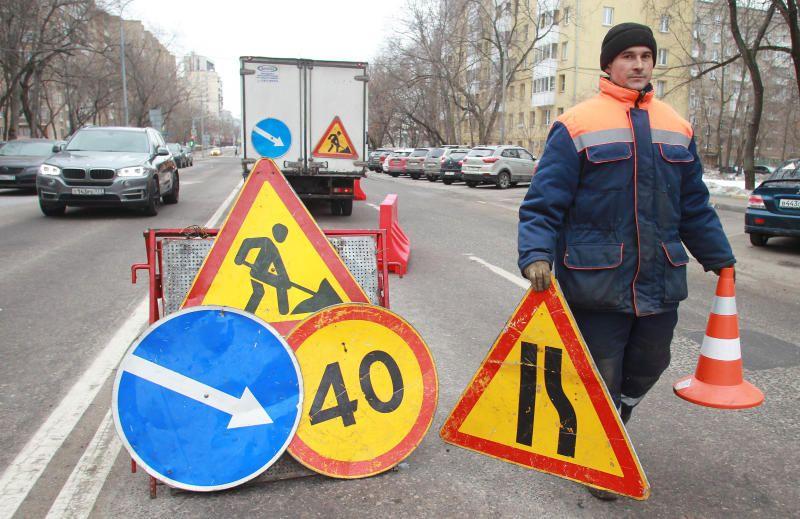 Ремонт трассы реализуют по улице Энгельса вдоль городского парка «Барыши».. Фото: Наталия Нечаева, «Вечерняя Москва»