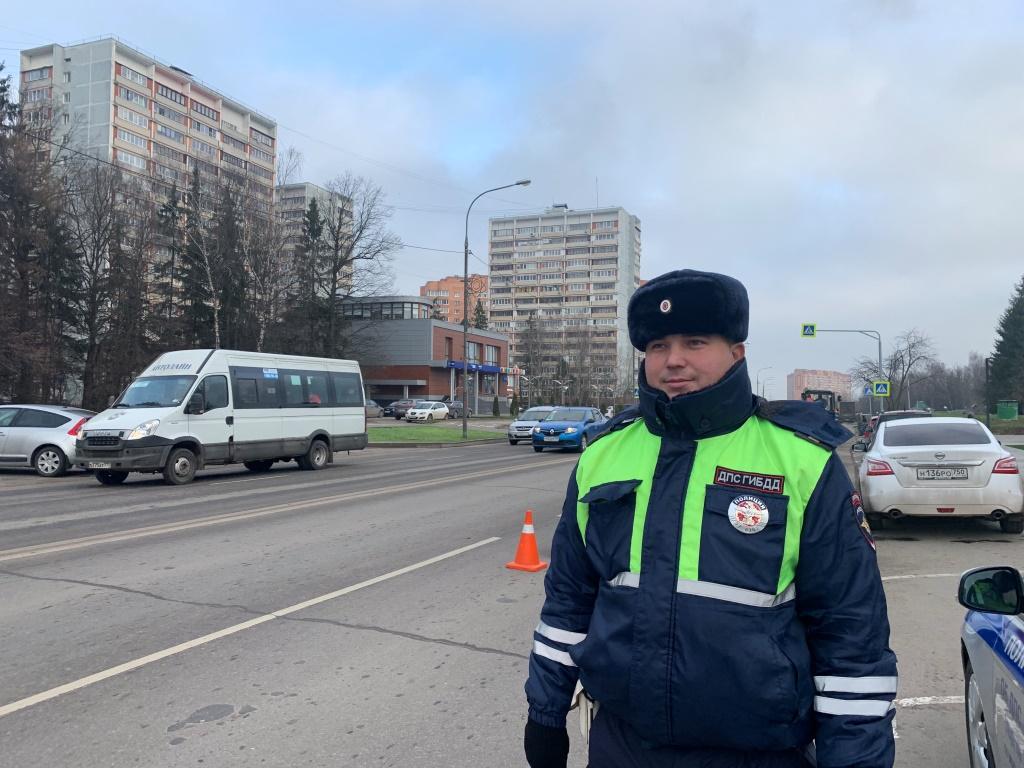 Сотрудники Госавтоинспекции Новой Москвы провели профилактическое мероприятие «Пешеходный переход»