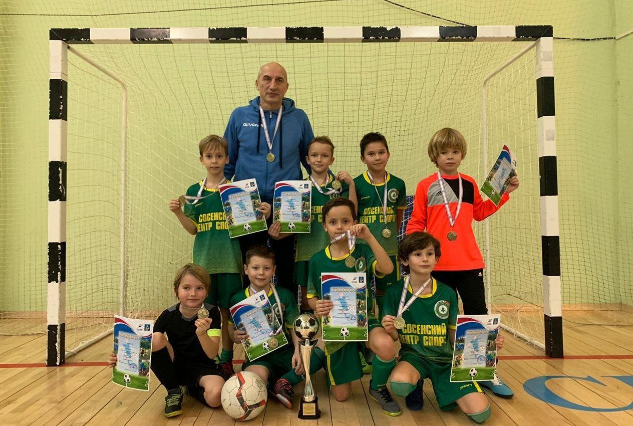 Юные футболисты из Сосенского обыграли всех соперников в турнире