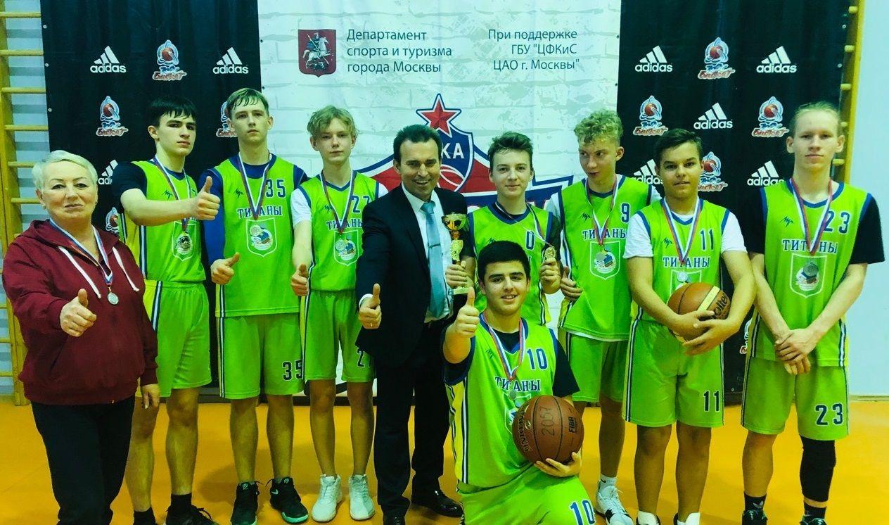 Баскетболисты из Марушкинского выиграли серебро на чемпионате Москвы