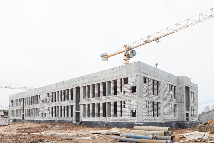 Часть работ по строительству детского сада выполнили в Рязановском