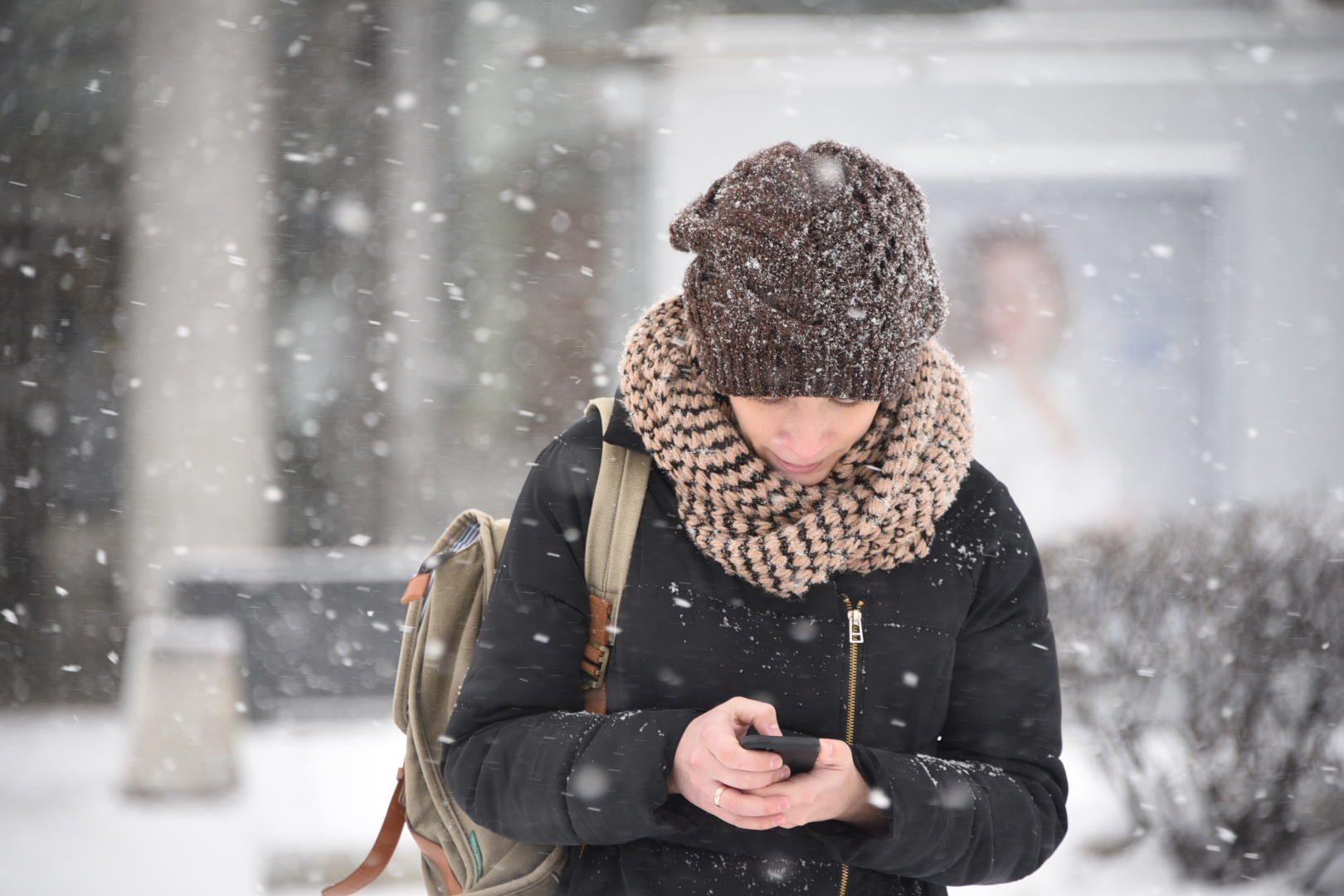 Мокрый снег ожидается в Москве в четверг
