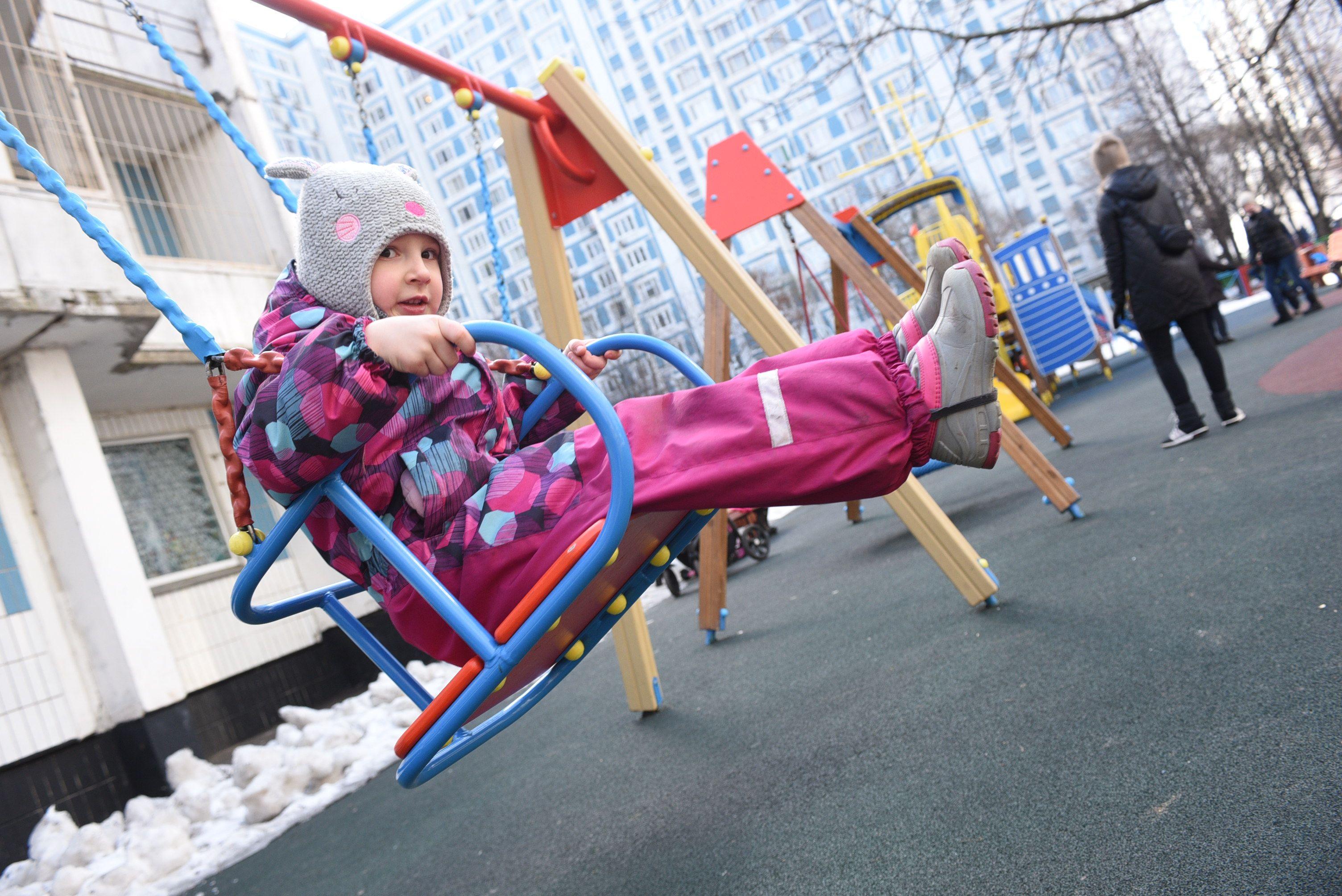 Открыто свыше 300 детских площадок. Фото: Пелагия Замятина