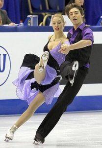 2012 год. Александра Чистякова вместе с партнером Димитаром Личевым на Чемпионате Мира в Ницце. Фото из личного архива