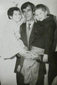 1985 год, город Ашхабад. Александр с дочкой Инной и сыном Германом. Фото из личного архива