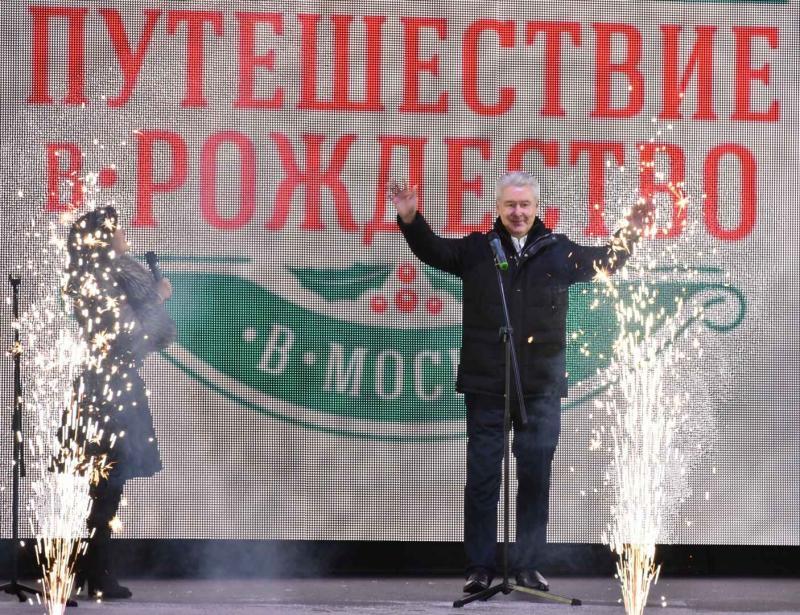 Мэр Москвы Сергей Собянин поздравил горожан с Рождеством и пожелал им крепкого здоровья