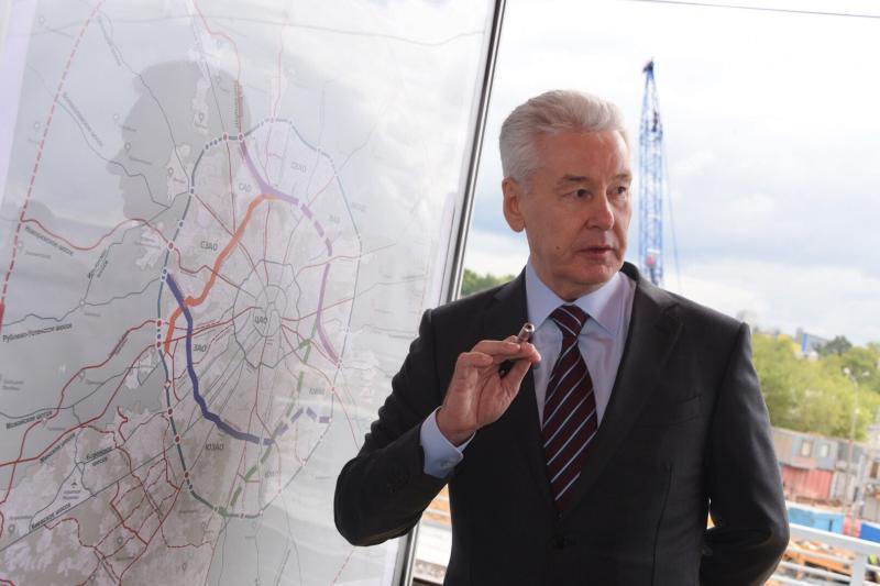 Собянин назвал сроки открытия путепровода через МЦК на юго-востоке Москвы