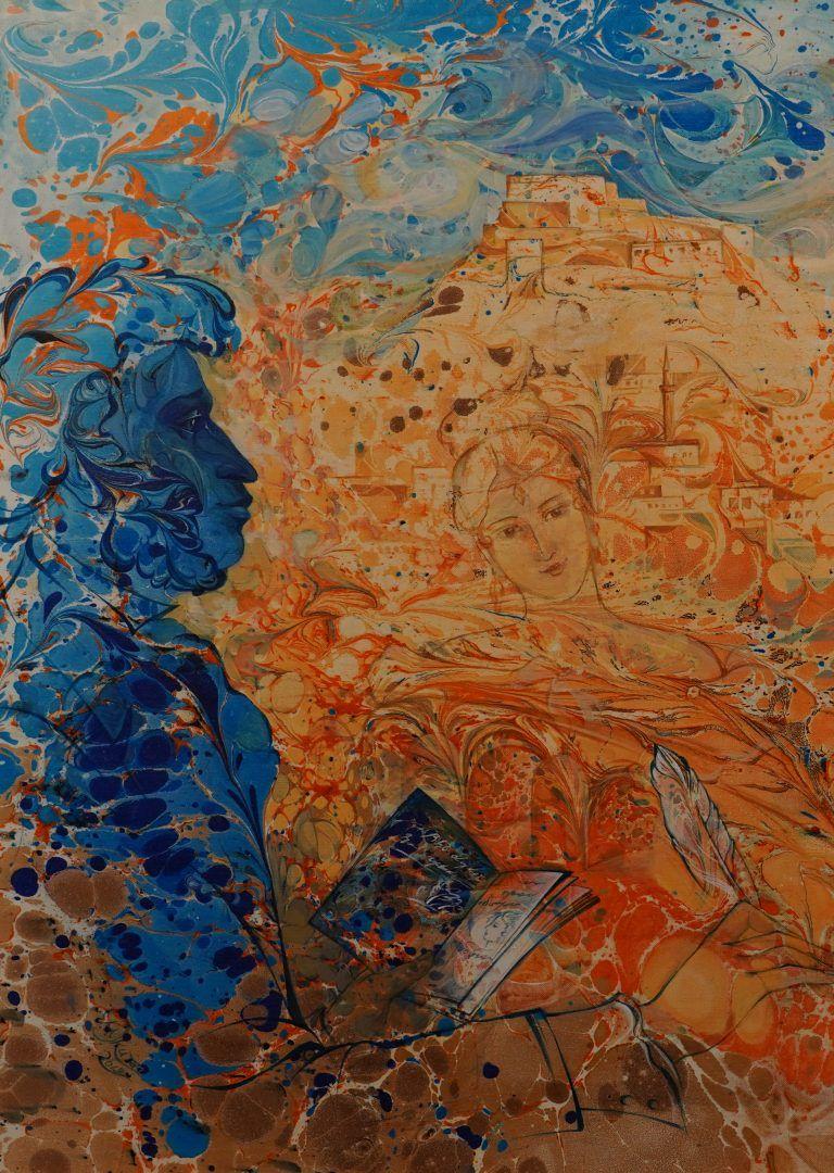 Александр Пушкин на фоне Карской крепости. Фото: Денис Кондратьев