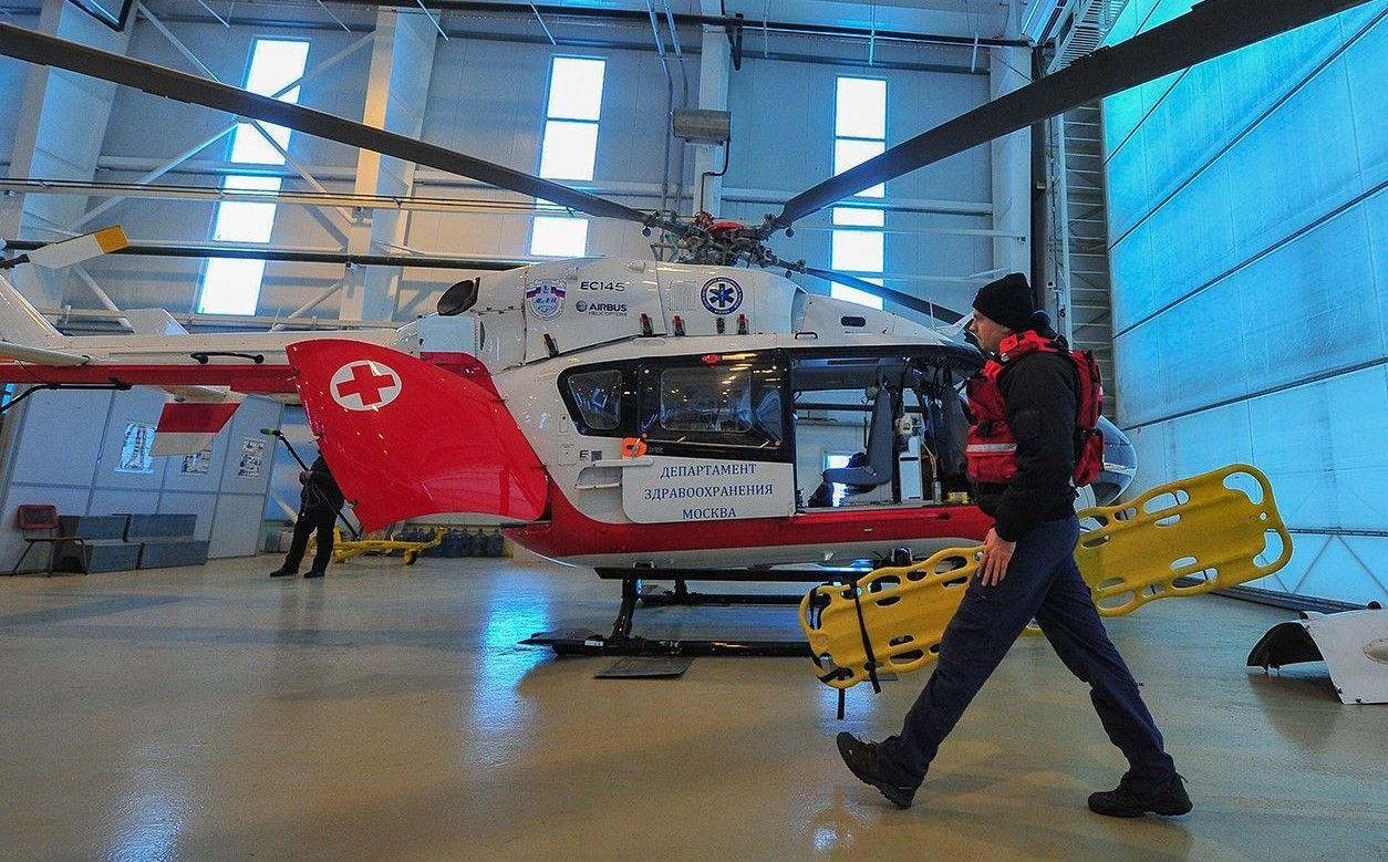 Каждый пятый вылет авиамедицинских бригад приходился на ночные дежурства. Фото: сайт мэра Москвы