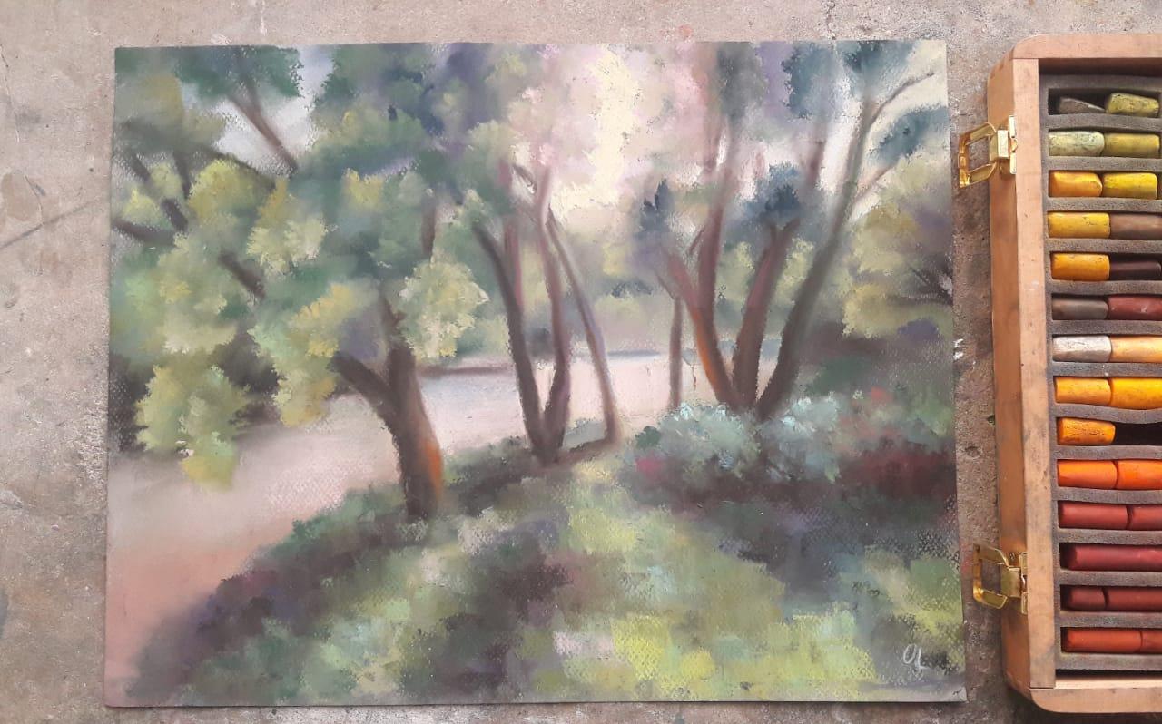 Сюжеты залитые солнцем: выставку картин открыла художник-пастелист Ольга Лях