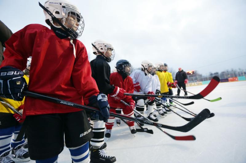 Ребята из села Кленово победили соперников в двух хоккейных матчах межокружной спартакиады