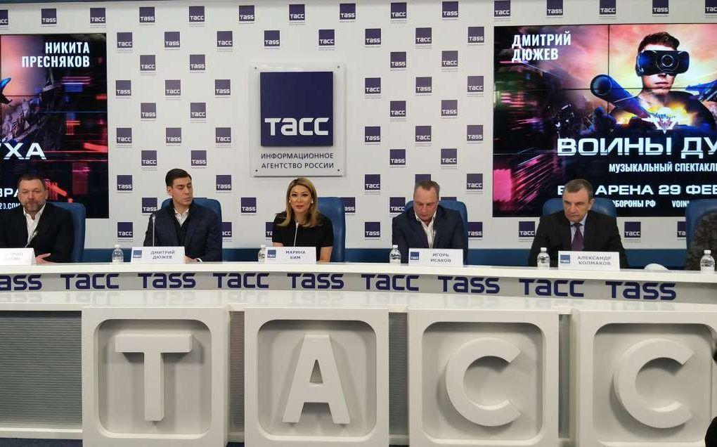 Организаторы и артисты спектакля «Воины духа» выступили на пресс-конференции в Москве