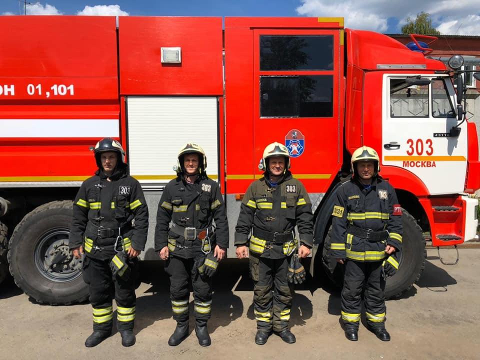 Огнеборцы из Новой Москвы спасли десять человек