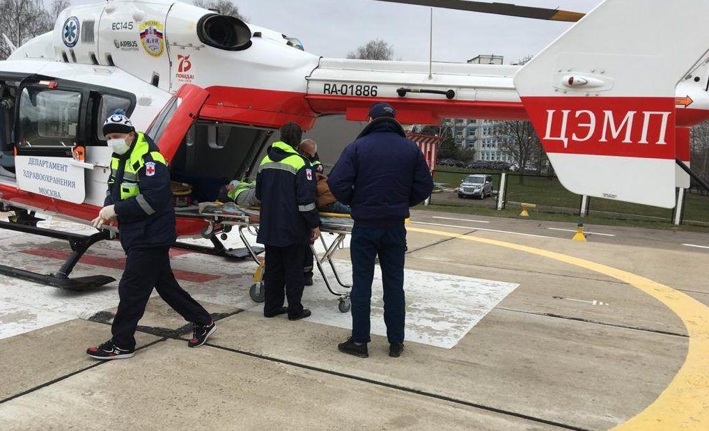 Дежурный санитарный вертолет вылетел по вызову в Новую Москву