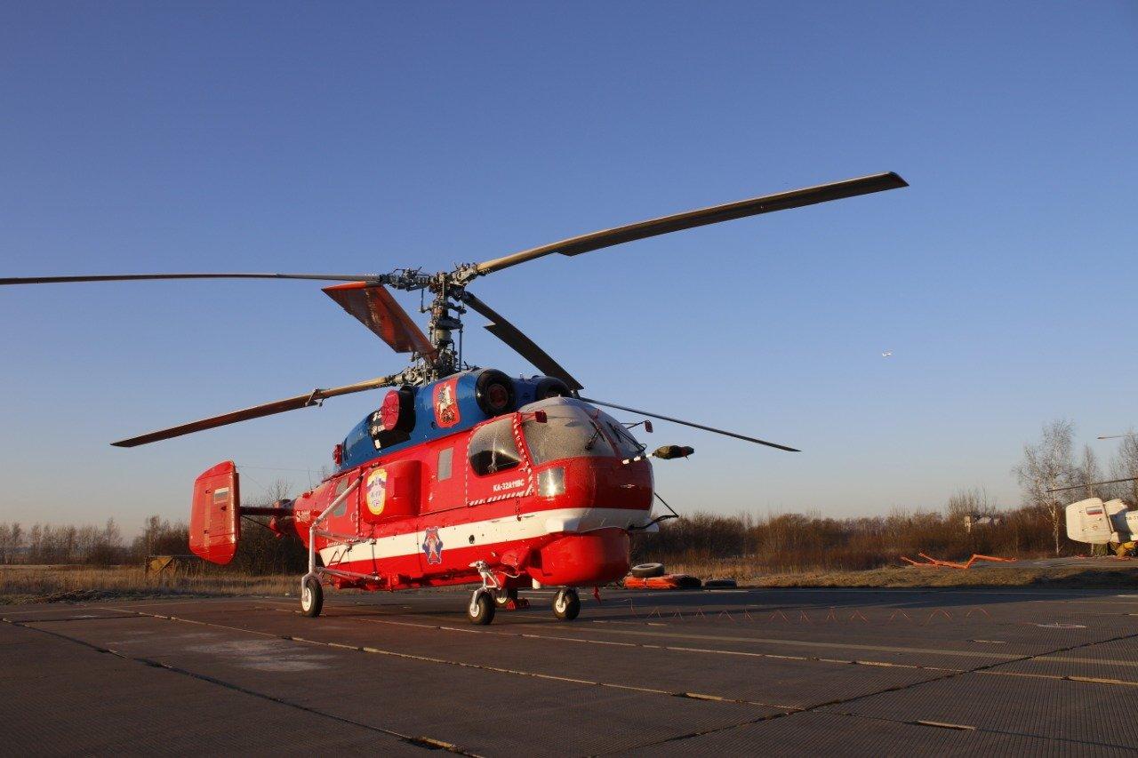 Новый пожарный вертолет приступил к тренировочным полетам