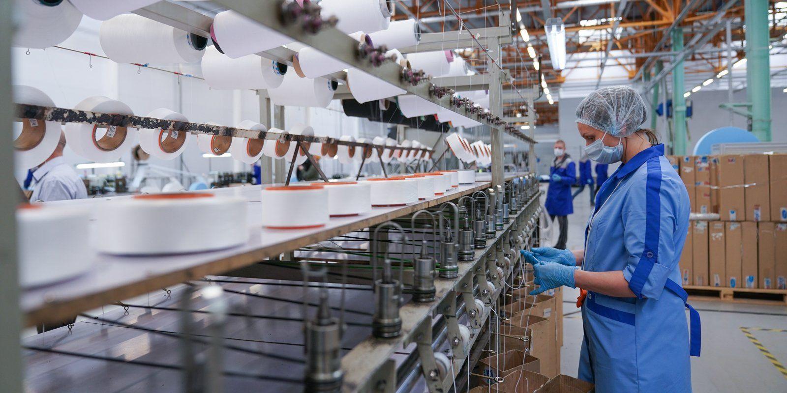 Объем производства масок в технополисе «Москва» достиг 900 тысяч в сутки