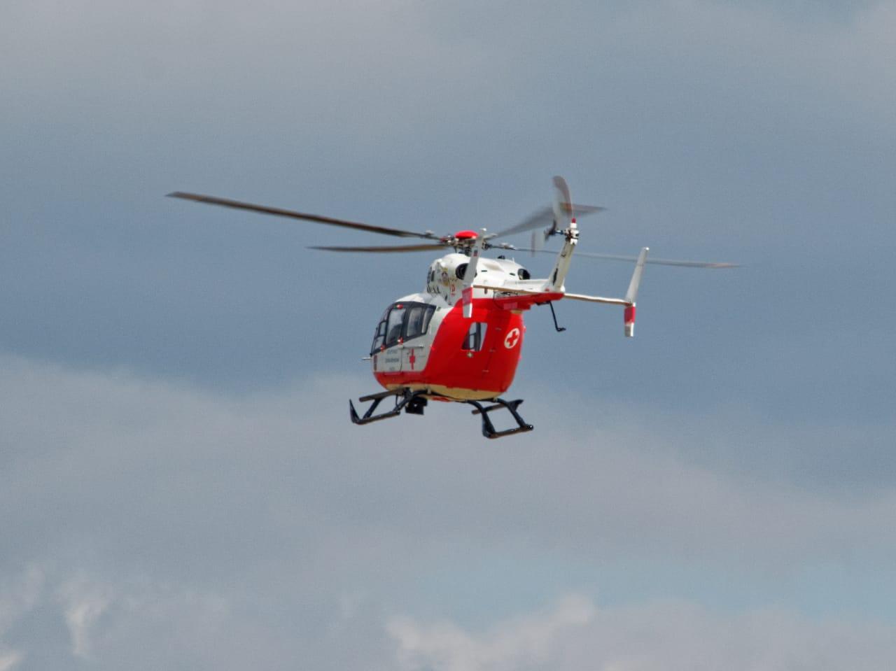 Экипаж дежурного санитарного вертолета вылетел по вызову в Новую Москву