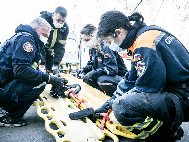 Взаимодействие Системы 112 Москвы и «СпасРезерва» помогает спасать людей. Фото: пресс-служба Управления по ТиНАО Департамента ГОЧСиПБ