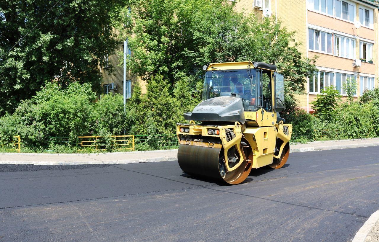 Реконструкцию проезжей части завершили в селе Остафьево