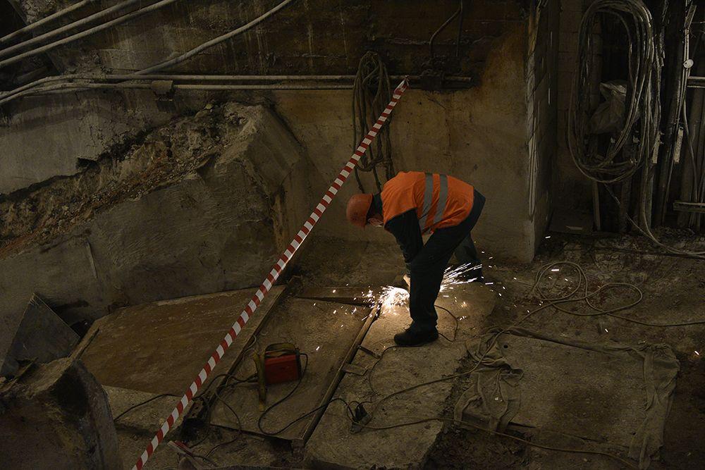 Одна путевая стена вестибюля будет глухой. Фото: Пелагия Замятина, «Вечерняя Москва»