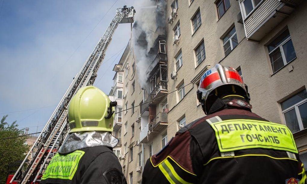 Пожарные столицы в онлайн режиме рассказывают студентам о своей работе