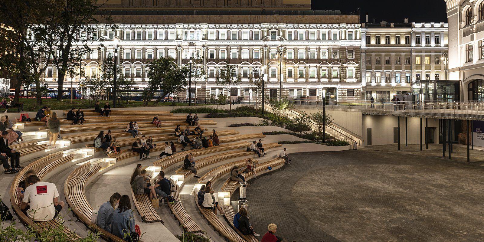 Элемент декора или точка Wi-Fi: новые тренды освещения реализовали в Москве