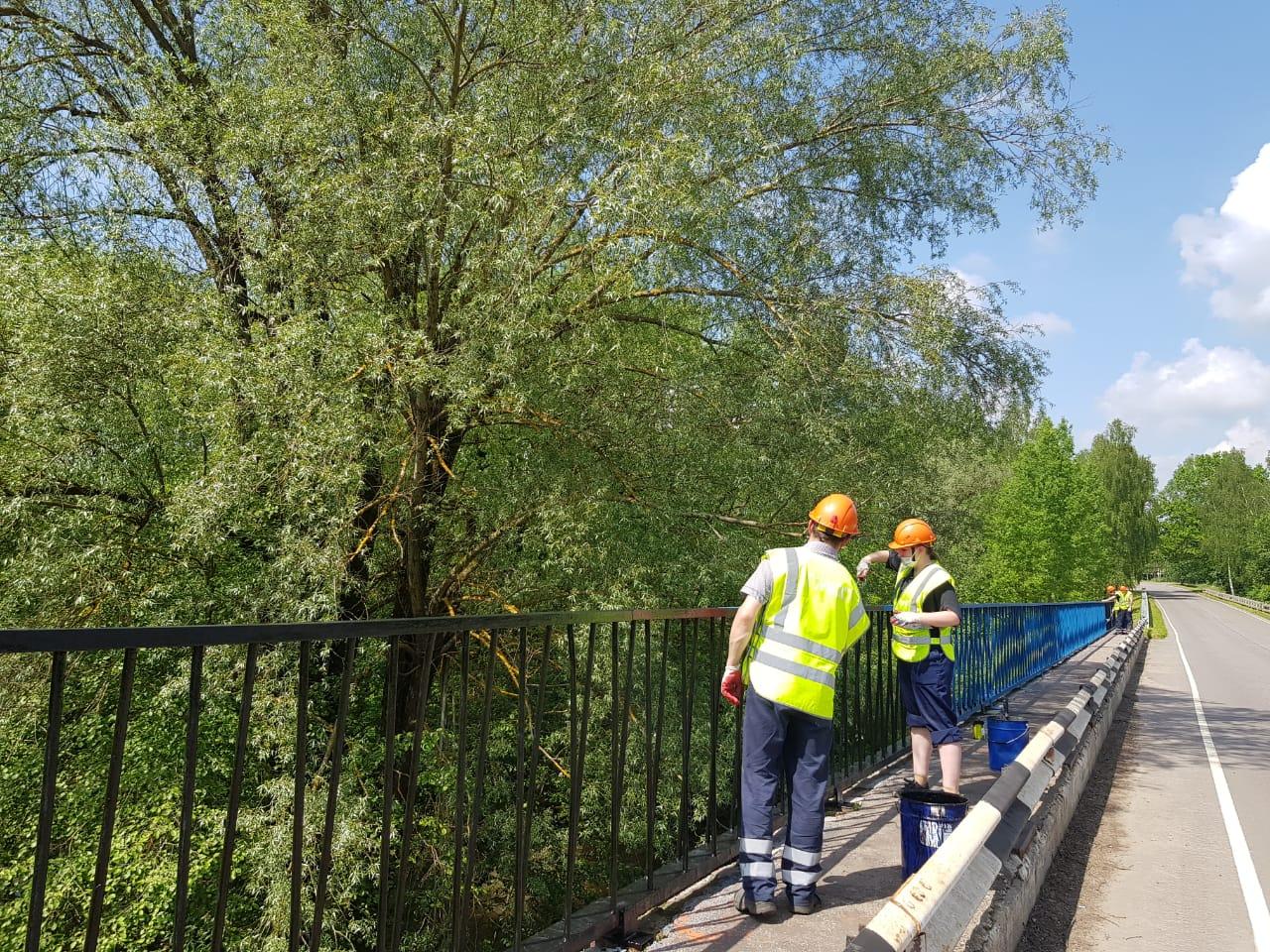 Реставрацию двух мостов начали в Кленовском